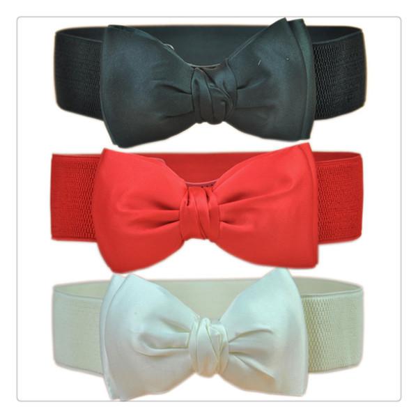 New Fashion Women Elastic Waist Belts Wide Stretch Waist Elastic Cummerbund Belt For Women Accessories Free Shipping