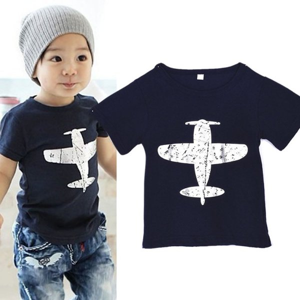 Neue 1-6Y Baby Kurzarm Kleinkind Baby Kinder Jungen Neuheit Lustige Baumwolle Kurzarm T-Shirt