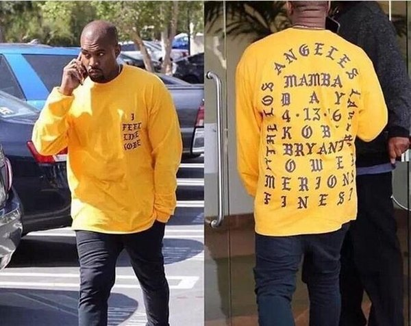 Yeezus T-Shirt I Feel Like Kobe T Shirt Men Kobe Retire Commemorative Mamba T-Shirt Yeezus Hip Hop Sport Tees Tops Kanye West