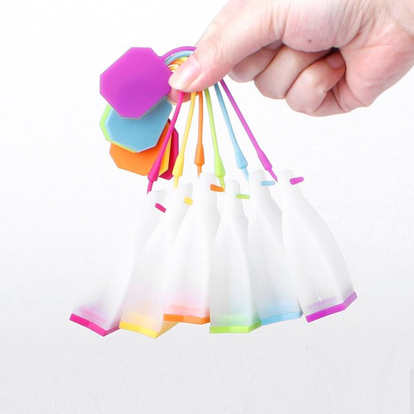 top popular Tea Bag Silicone Infuser Tea Leaf Strainer Loose Herbal Spice Filter Diffuser Coffee Tea Tools Party gift 2019