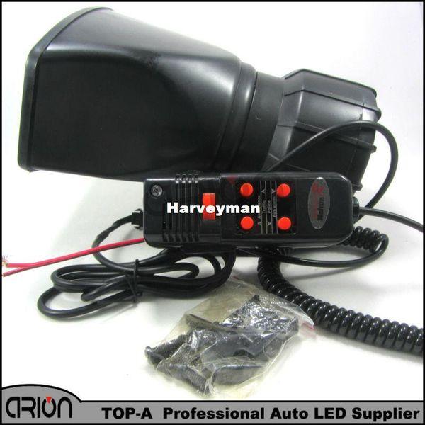 best selling new DC12V Car Electronic Warning Siren Alarm Police Firemen Ambulance Loudspeaker with MIC 1-5 sound style