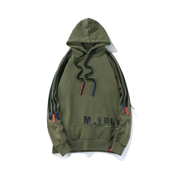 New Youth Men Solid Hip Hop Style Hoody Drawstring Hooded Swag Pullover Solid Loose Hoodies Sweatshirts Male