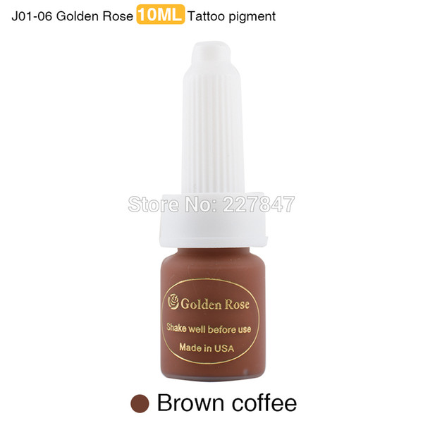 Wholesale- CHUSE 10ML Light Coffee Tattoo Ink J01-07 Pigment Eyebrow Lip Supply , Golden Rose Microblading Microblading 3pcs/Lot Tattooing