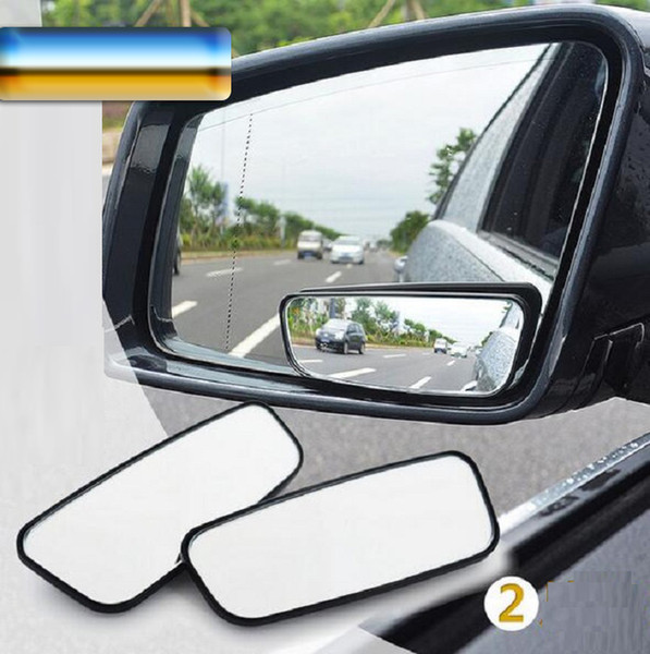 Car Mirror Blind Spot glass Side Wide Angle Auto Rear View Adjustabe for parking universal black