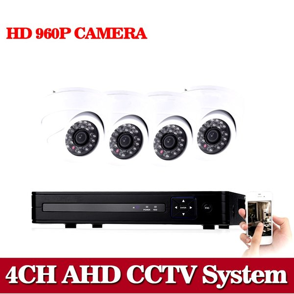 Home Security CCTV Camera System 960P Kit 4 Channel AHD CCTV HVR DVR NVR AHD DVR 4pcs 2500TVL Infrared Indoor Dome Camera