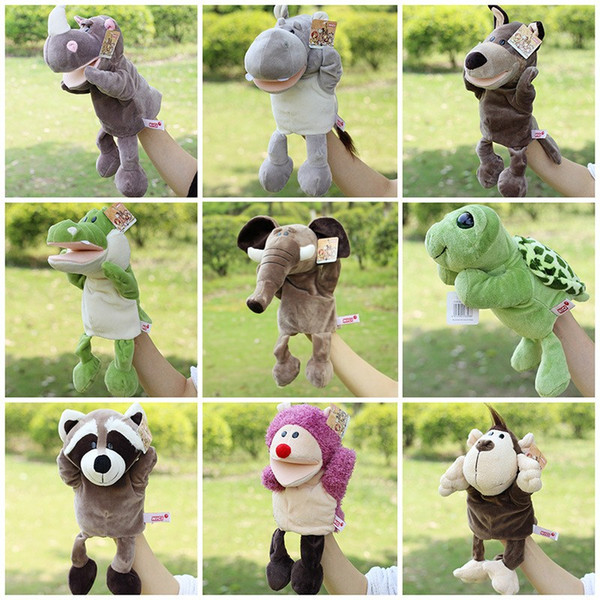 top popular New Arrival Plush Puppet Toys Animal Hand Puppets Doll Lion Elephant Orangutans Parent-child Interactive Games Toys Best Gifts 2021