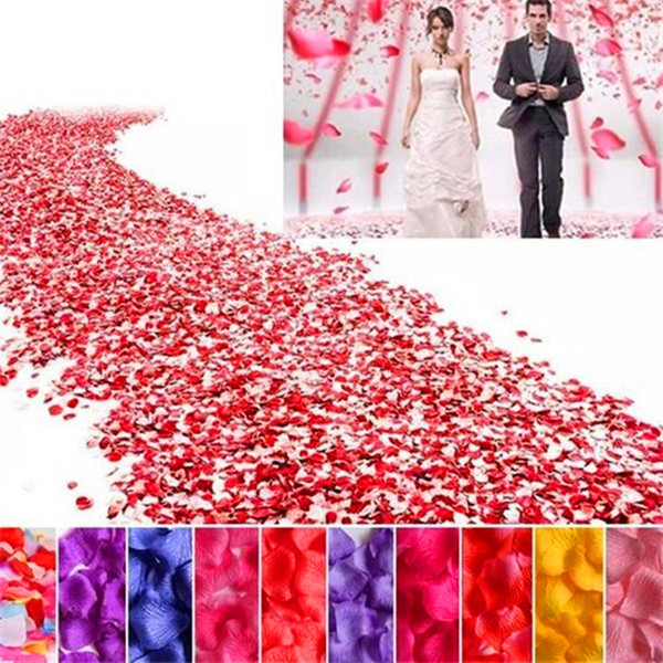 Decorations Artificial Dried Flowers 1000pcs Silk Rose Flower Petals Leaves DIY Handmade manual Artificial flowers petal Wedding Decorati...