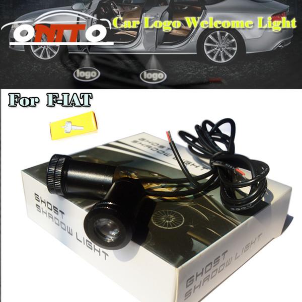 Buena calidad Car styling 12 V 10 W Coche Puerta Proyector Luz 3D luz de Bienvenida Para Fiat Punto 500 Stilo Bravo Palio Auto accesorios