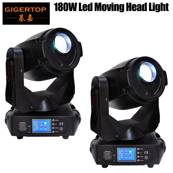 best selling Freeshipping 2 Pack 180W Led Moving Head Light Pan 540 Tilt 270 Degree Frost Lens 3 Facet Prism 5 Facet Prism CE ROHS High Power