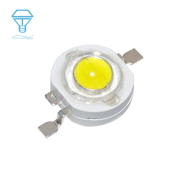 Wholesale- 0.75W Watt 100pcs a Lot White WhiteWarm 80-90LM High Power LED Bulb Chip LED Light Diodes SMD Spot Light Downlight Diode Lamps