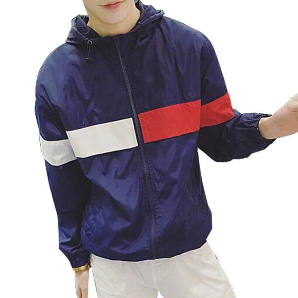 Мужчины Женщины Весна Осень Куртка Мода Повседневная С Капюшоном Хип-Хоп Водонеп