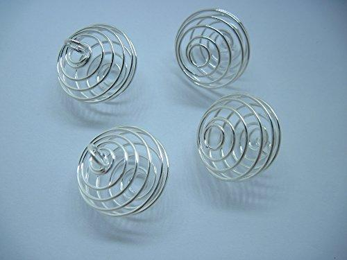 Wholesale Price - Free Shipping 50Pcs/Lot Metal Spiral Bead Cages Pendants Findings 30mm Jewellery Making DIY Finding