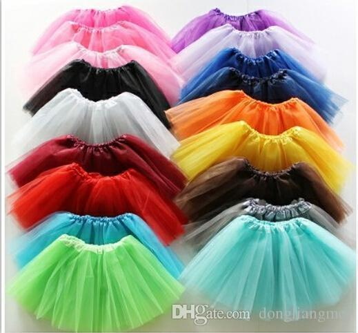 top popular 10pcs 13 colors Top Quality candy color kids tutus skirt dance dresses soft tutu dress ballet skirt 3layers children pettiskirt clothes Y40 2019