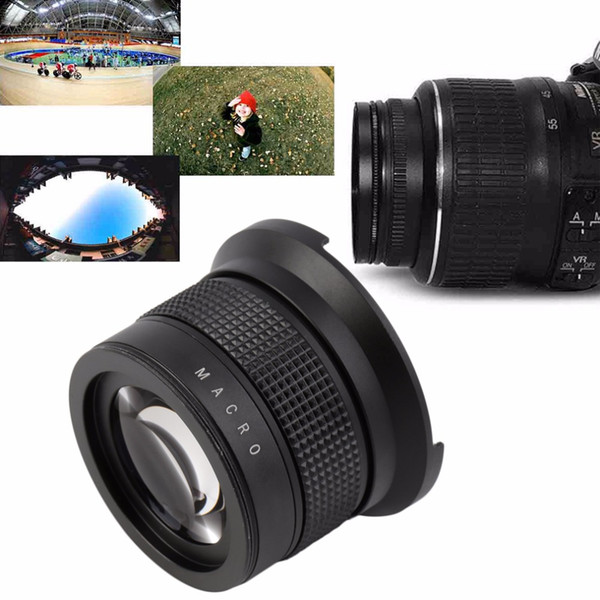 best selling Freeshipping NEW 0.35X58MM Camera Super HD Wide Angle Fisheye Lens With Macro for Canon EOS