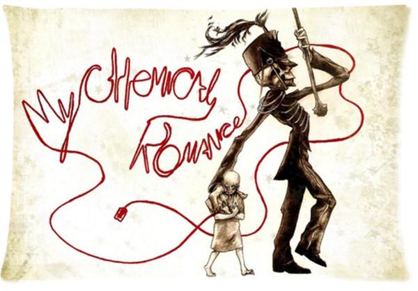 My Chemical Romance MCR couvre-oreiller noir parade couvre taille standard 20 x 30 pouces