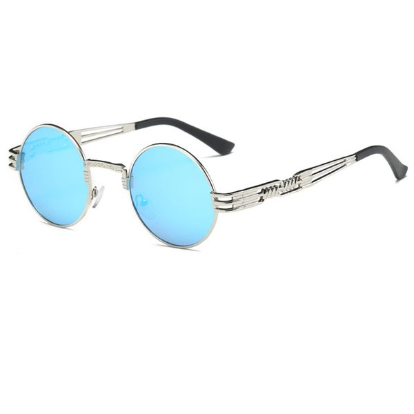 C10 Silver Frame Blue Mirror