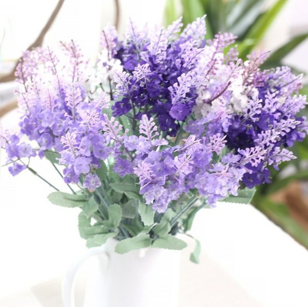2018 Artificial Silk Lavender Flowers Simulation Floral For Wedding ...