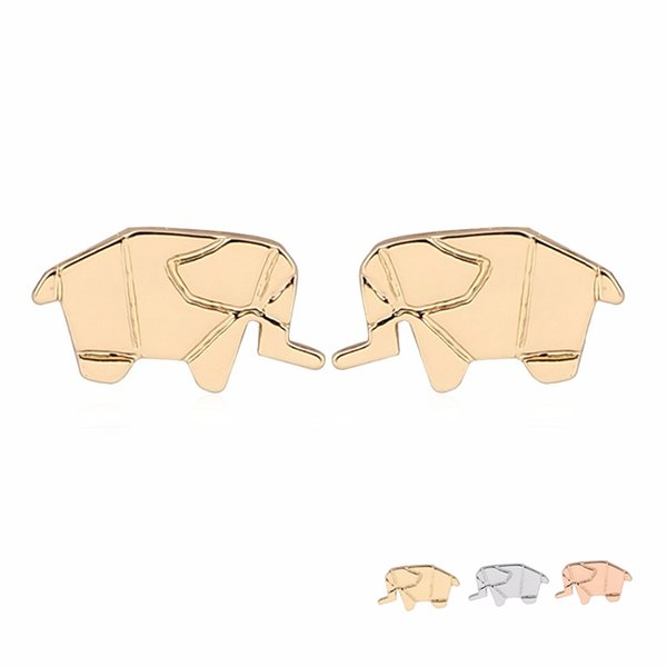 New Arrival Cute Mechanics Elephant Earring Copper Material Cartoon Baby Elephant Indian Fashion Women Studs Jewelry EFE075