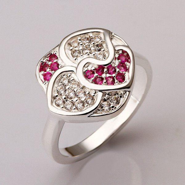 3 colori Molti gioielli in argento sterling anello gioielli SR353, nuovissimo rosso gemma 925 anelli d'argento dito anelli di nozze