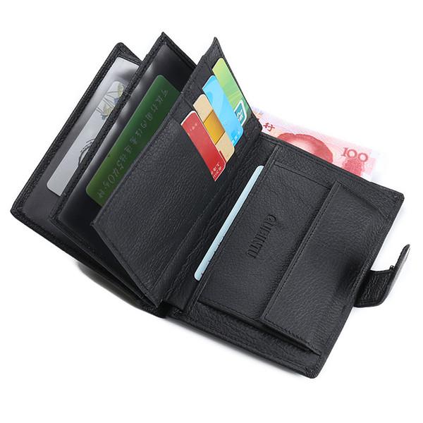 Wholesale- Slim Designer Luxury enuine Leather Men Wallet Male Coin Purse Bag Card Holder Money Perse Portomonee Walet Cuzdan Vallet