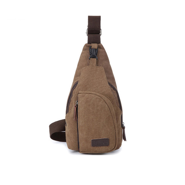 1pc Men Small Chest Canvas Bags Vintage Man Messenger Bags For Waist Chest Casual Outdoor Hiking Sport Casual Male Retro Shoulder Bag
