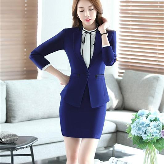2017 Womens Formal Trabalho roupas Terno e Senhora Calças Casuais Escritório de Negócios Definir Moda Feminina Ternos de Escritório Workwear