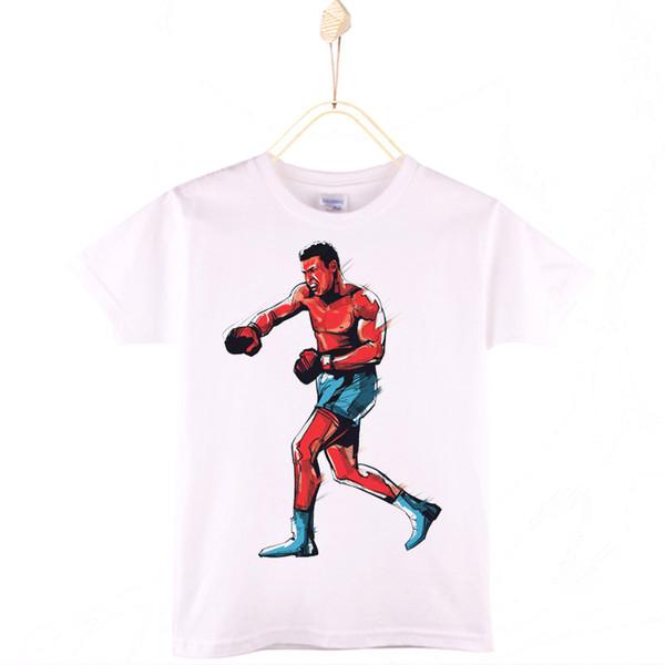 2017 Special Discount Children T-shirt Cotton Ali Muhammad WBC Champion White Kids T Shirts Girls Tops Boy Clothes Free Shipping