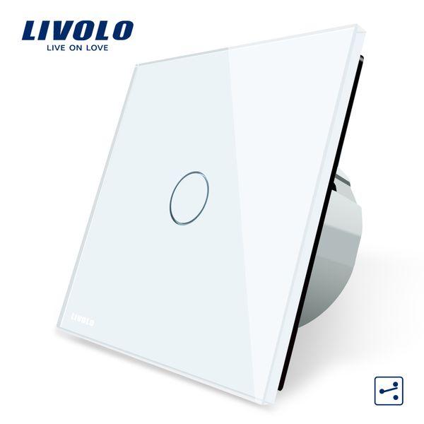 Livolo EU Standard Wall Switch 2 Way Control Switch, Crystal Glass Panel, Wall Light Touch Screen Switch,VL-C701S-1/2/3/5