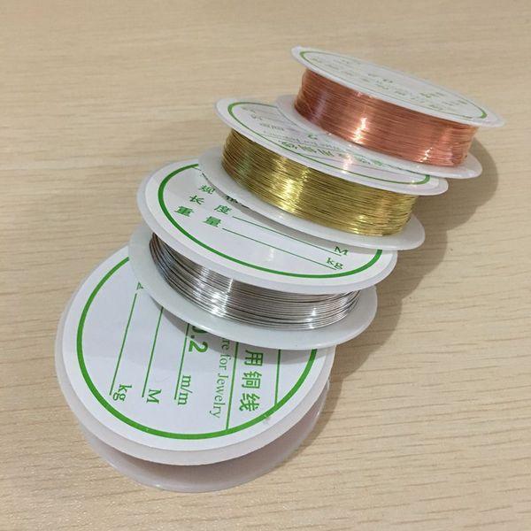0.2MM a 1MM Cobre Color Metal Cobre Alambre Muy Fuerte Puede Hacer Forma Diy Jewelry Making Hallazgos Accesorios
