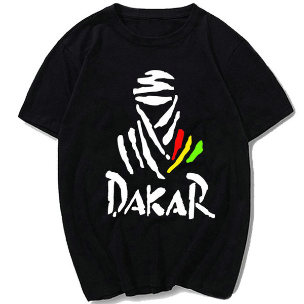 Auto race T shirt The paris Dakar rally short sleeve gown Car sport tees Leisure printing clothing Unisex cotton Tshirt