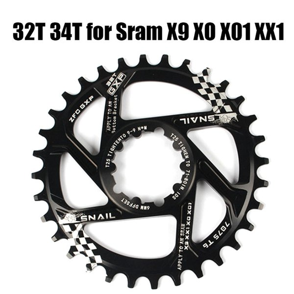 top popular 32T 34T Narrow Wide Bicycle Chainring MTB Mountain Bike Chainwheel For XX1 X9 XO X01 CNC AL7075 Crankset Part 2019