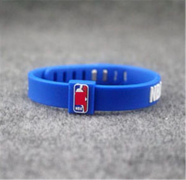 Venta caliente pulsera pulsera hebilla de metal tamaño ajustar baloncesto deporte energía de silicona brazalete poder pulsera equilibrio cordón para el equipo de la unión