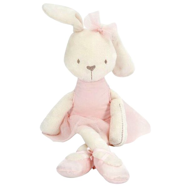 best selling Wholesale-Kawaii 42cm Large Soft Stuffed Animal Bunny Rabbit Toy Baby Girl Kid Puppet Baby Soothing Doll Baby Sleeping Plush Toy