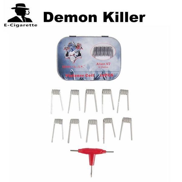 Demon Killer Насилие Катушка Чужой V2.0 Clapception Катушка 10 Катушек В Коробке Fit Атомайзер Бесплатная Доставка