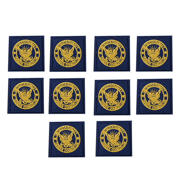 10PCS golden bird badge embroidery patches for clothing iron patch for clothes applique sewing accessories on stickers cloth iron on patches