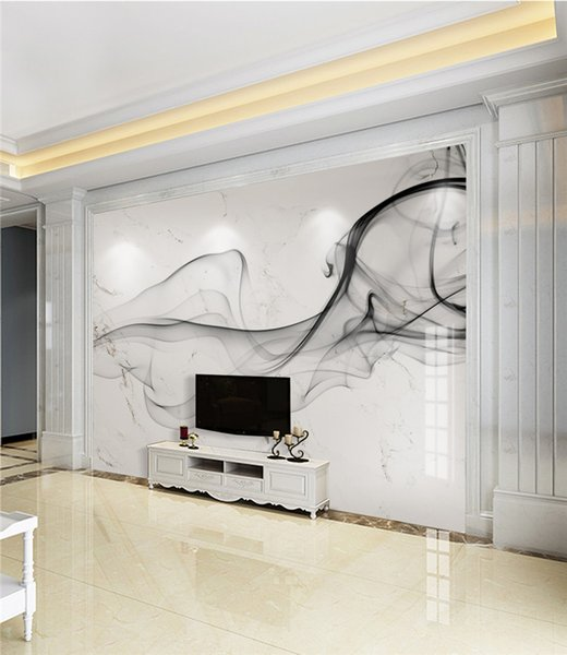 3d Mural Photo Wall Paper for Living Room Bedroom Smoke Abstract Stripe Wall Decor Landscape Custom Size 3d landscape wallpaper