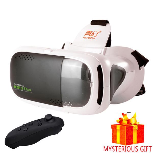 Toptan-Casque VR Kulaklık Video 3 D Kutusu 3D Sanal Gerçeklik Gözlükleri Gözlükler Smartphone Kask Akıllı Lens Google Karton Cardbord Vrbox