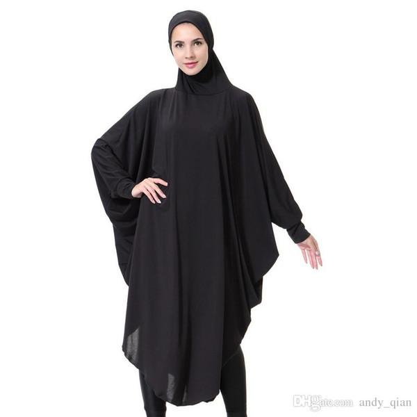 Großhandel Arabische Frauen Roben Einfarbig Islamischen ...