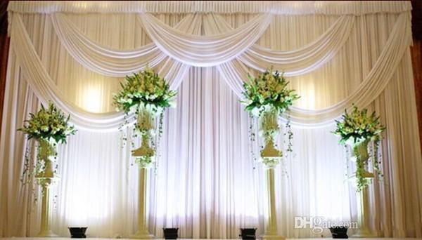 3*6m Wedding Party Stage Celebration Background Satin Curtain Drape Pillar Ceiling Backdrop Marriage decoration