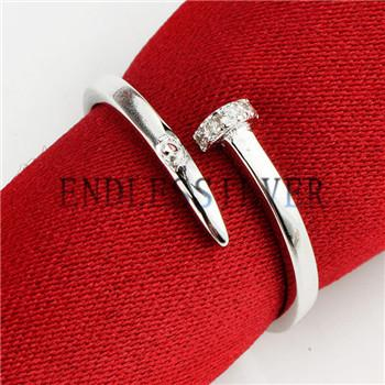 Piston Ring Settings Blank Base 925 Sterling Silver Zircon DIY Jewellery Finding Mountings for Pearl Party