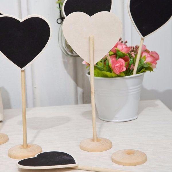 5Pcs/lot Vintage Mini Wood Chalkboard Blackboard Wooden Place Card Holder Table Number for Wedding Event Party Decoration