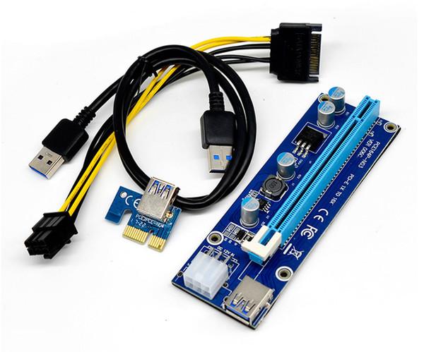 PCI-E Express 1X için 16X Grafik Kartı Yükseltici USB 3.0 SATA 6Pin / 4pin Güç Kaynağı 60 cm