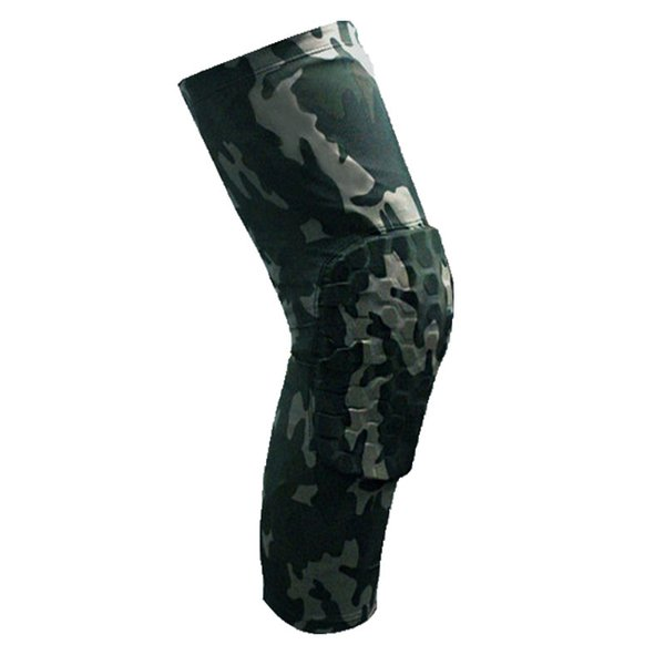 3af7542849d9f2 Wholesale- 1pcs high elastic anti-collision camouflage kneepad basketball  running Leggings breathable protection knee
