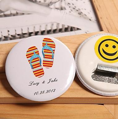 Wholesale-Free Shipping Personalized Wedding Favors And Gifts Bottle Opener & Fridge Magnet Wedding Gifts For Guests Wedding Souvenirs