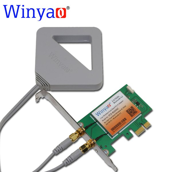 Wholesale- Winyao PCE-8260AC Dual Band Desktop PCI-E WiFi Card Adapter Wireless-AC 8260NGW 867Mbps 802.11AC for Intel 8260AC Bluetooth 4.2