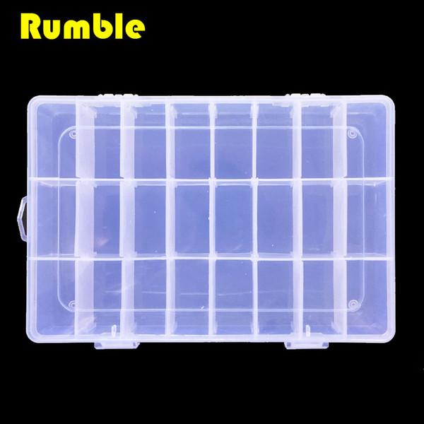 Großhandels-24 Gitter justierbarer Plastikspeicher-DIY Werkzeugkasten-Schrauben-Ersatzteil-Schmucksache-Ohrring-Plastikkasten-Behälter