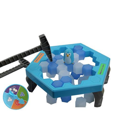 Nuevo juego de rompehielos Penguin Trap Save Juego de mesa de pingüino Ice Ice Block Family Toy Box de juego de mesa de pingüinos Trap