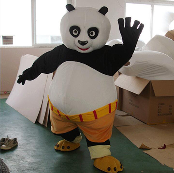 2017 Nuovo costume della mascotte di trasporto veloce Kung Fu Panda personaggio dei cartoni animati Kungfu Panda Fancy Dress formato adulto