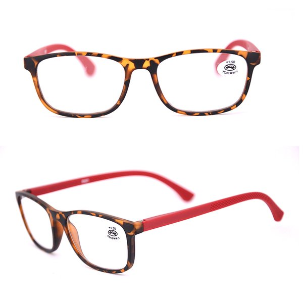 Venta al por mayor de lectores de plástico ovalados para mujeres y hombres Negro de moda barata gafas de lectura gafas de aumento de la tortuga 175097