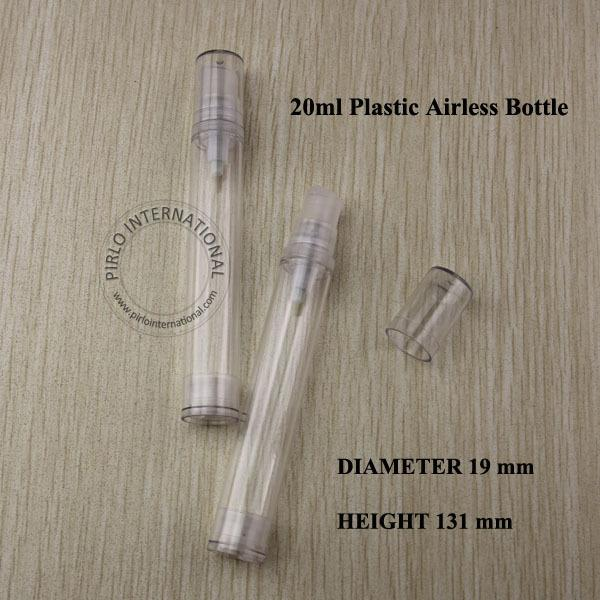 20ml PS Airless Cream Lotion Pump Spray Bottle Cream Containers Split Charging Bottles Cosmtic Packaging Plastic Bottle 5pcs/lot